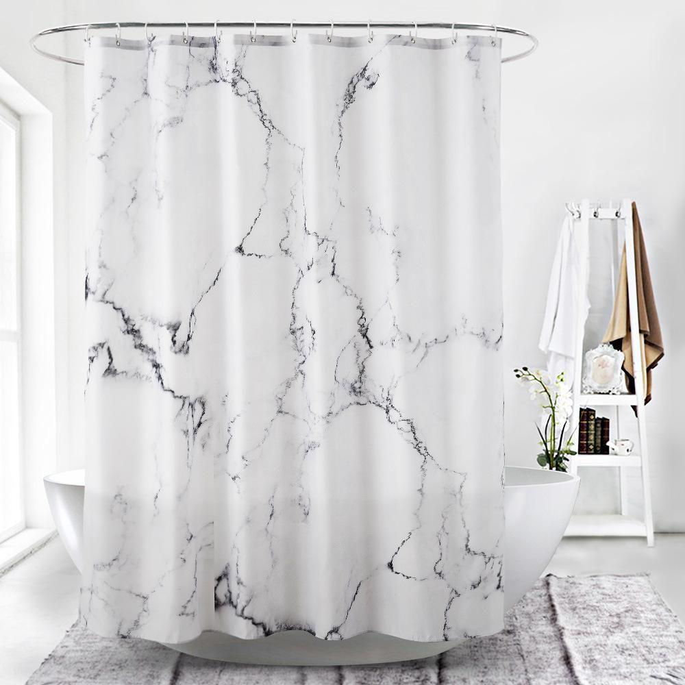 Marble Print Modern Style Waterproof Shower Curtain Boho Shower