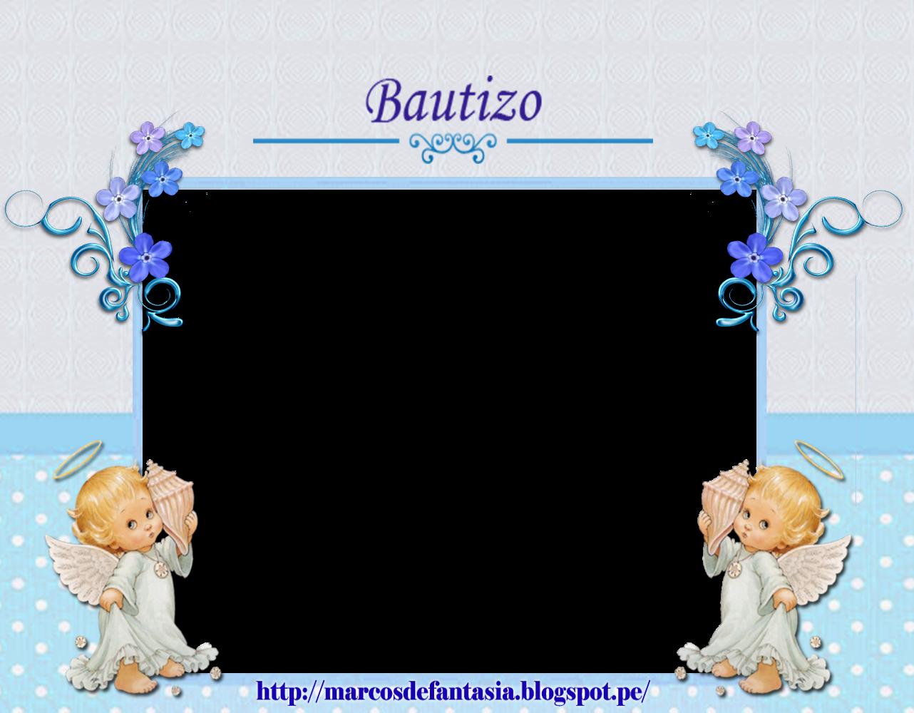 Mi Bautizo Marcos De Fantasia Fotos De Bautizo Marcos Para Bautizo Invitaciones Bautizo Nino