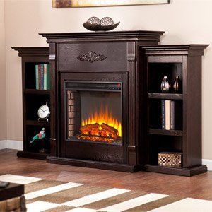 Tennyson Media Electric Fireplace Package In Espresso Fe8545