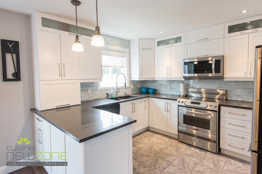 Armoire de cuisine contemporaine, armoire mélamine, laque cuisine - idee de rangement garage