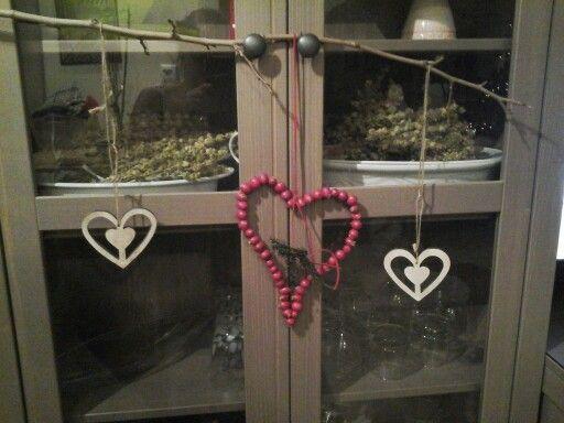 Love...red heart.....wood.....xmas