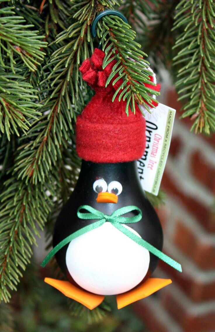 Из лампочки See YouTube how to video Christmas ornament