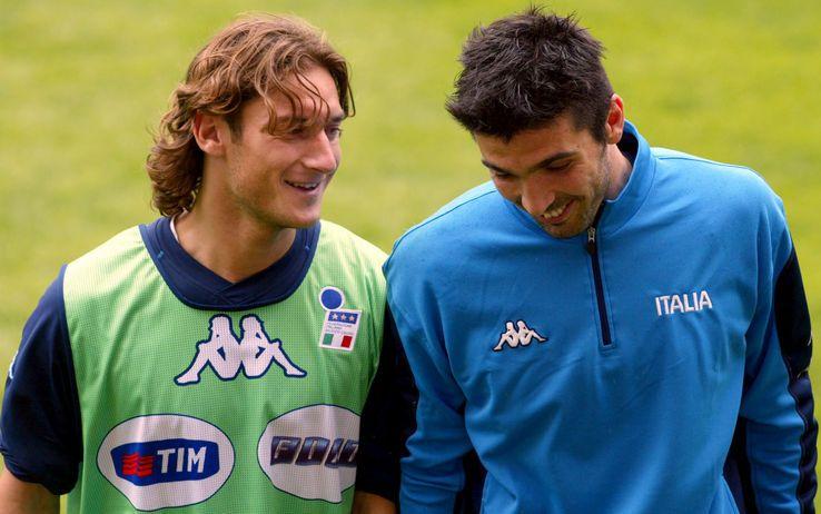 Francesco Totti and Gianluigi Buffon #ItalyNT #Azzurri #Legends #calcio