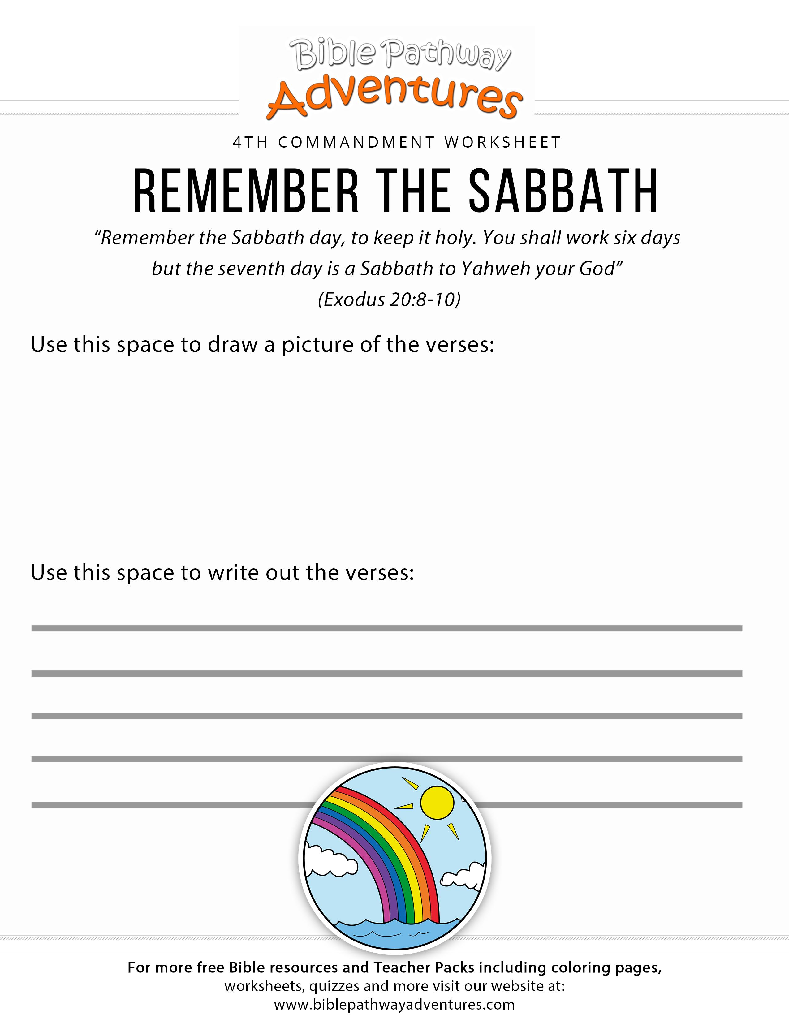 Worksheets Ten Commandments Worksheets ten commandments worksheet remember the sabbath bible adventure free download
