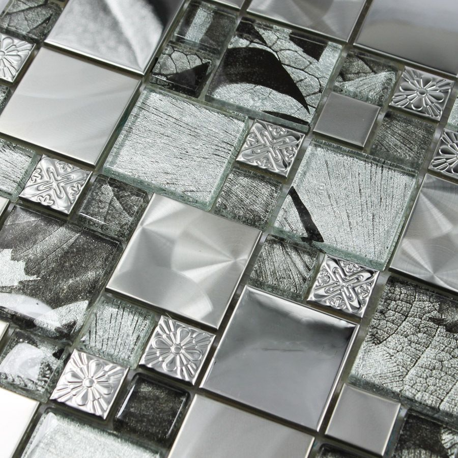 Crystal Glass Wallpaper Mosaic Stainless Steel Mirror Puzzle