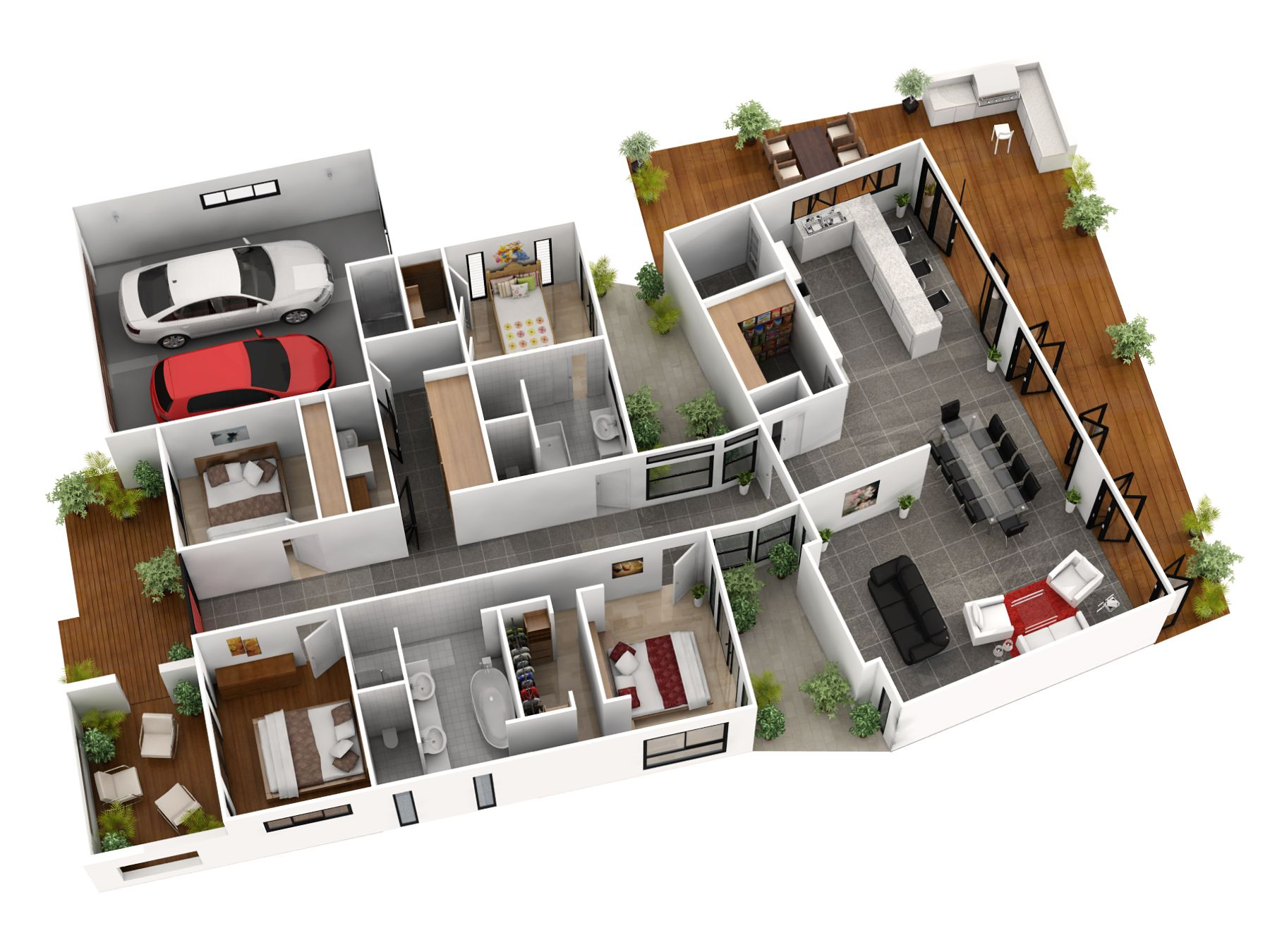 3d gallery artist impressions 3d architectural for Floorplans 3d