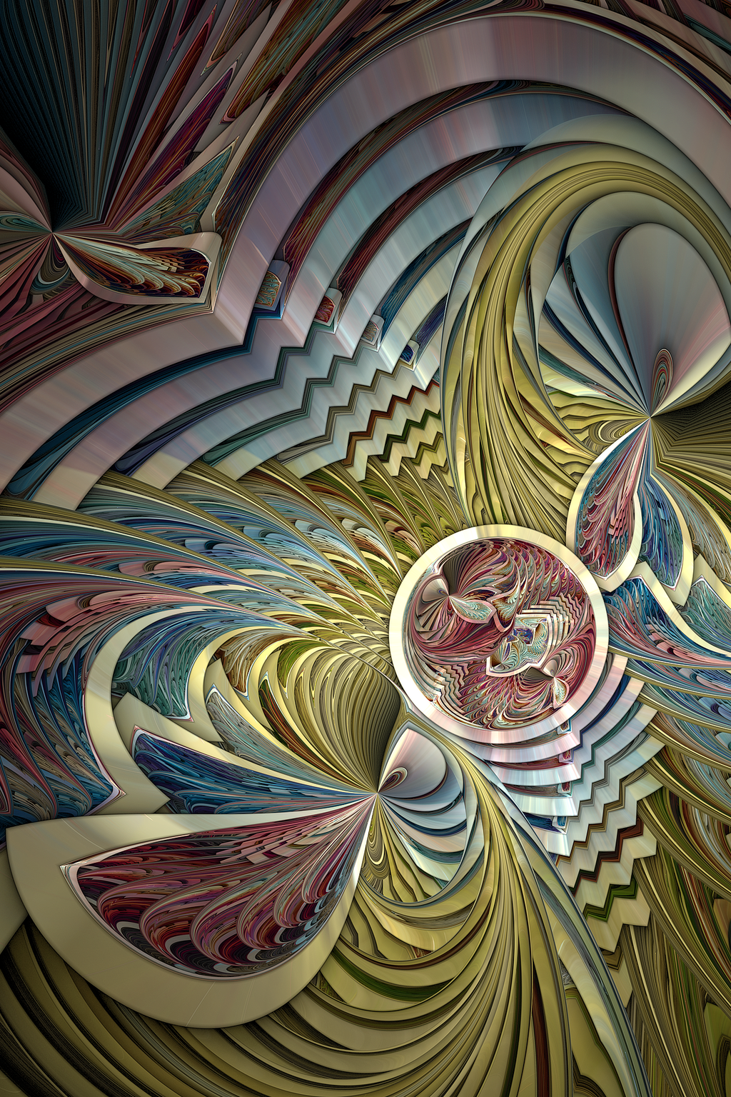 Snipzag Plangkye Fractal Art Psychedelic Abstract