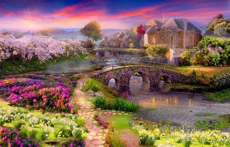 Fairytale Place Desktop Nexus Wallpapers Wallpaper Home Art Fairy Tales