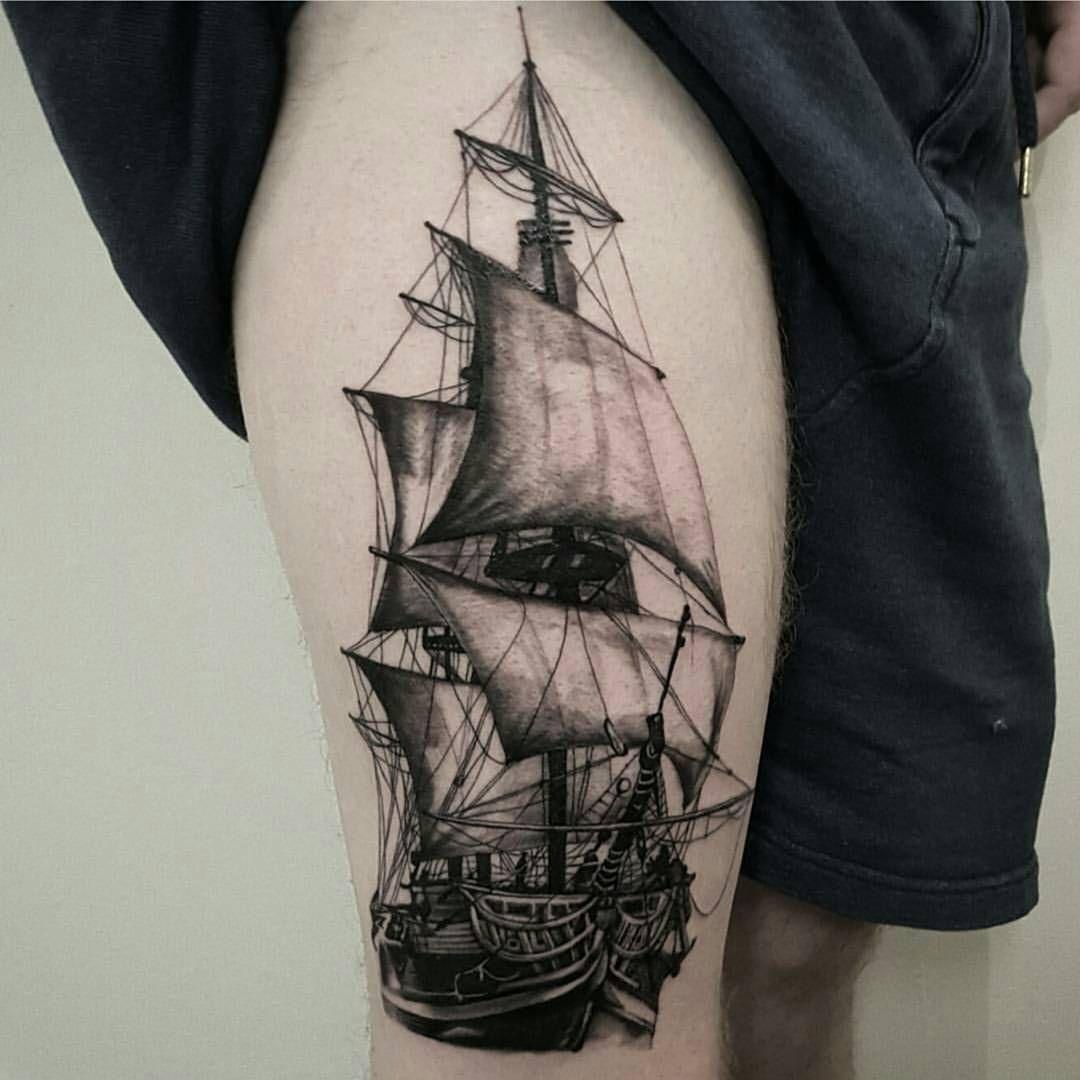 2 165 Curtidas 8 Comentarios Ink Ig No Instagram Artist Timtatt Love This Piece Timtatt Will Be Dubli Pirate Ship Tattoos Ship Tattoo Naval Tattoos