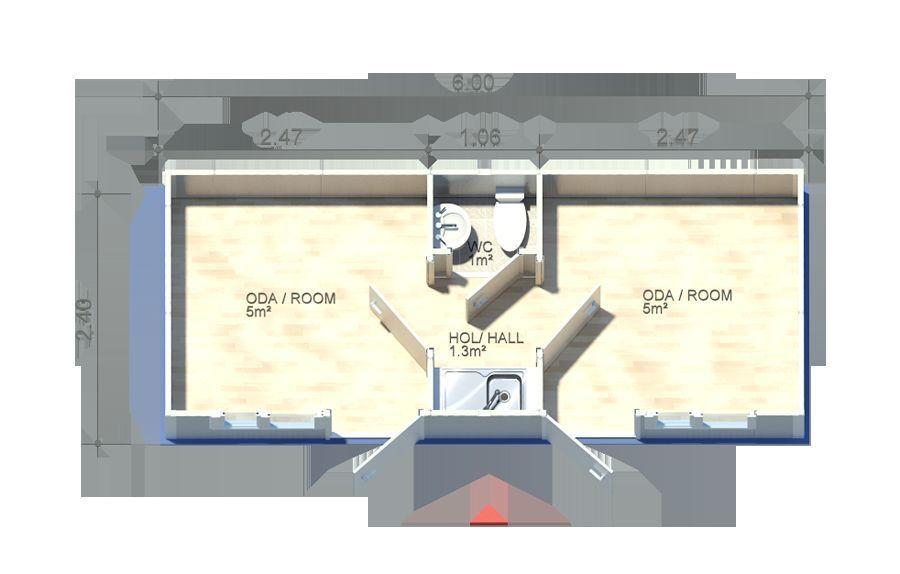 Bürocontainer WC Küche Baucontainer Wohncontainer ...