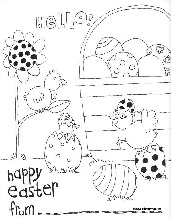 Free Printable Easter Coloring Page Print Skiptomylouorg