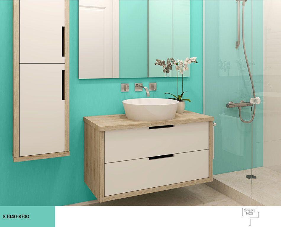 Turkusowa Aranżacja łazienki łazienka łazienka Kolor I