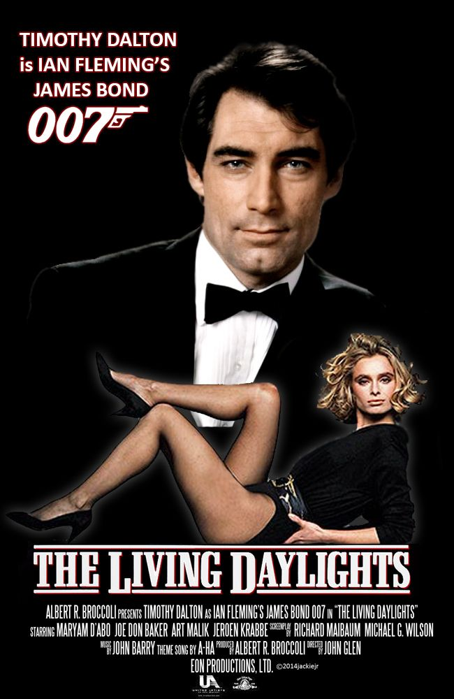 timothy dalton is james bond in the living daylights collage by