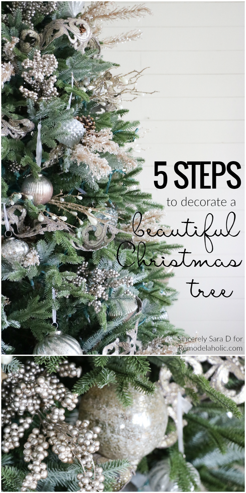 How To Decorate A Christmas Tree In Just Five Steps A Beautiful Well Decorated Christmas Tr Simple Christmas Christmas Tree Inspiration Rustic Christmas Tree