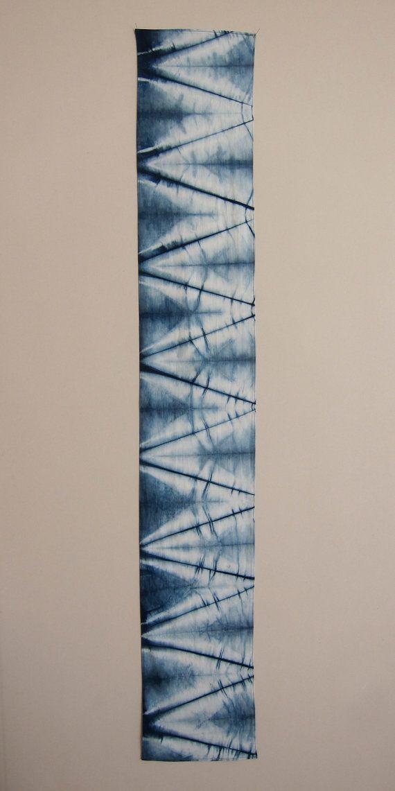 Indigo Dyed Cotton Scarf Isis by GrahamKeegan