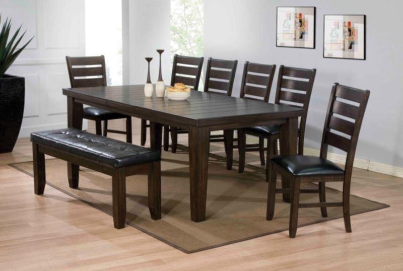 Acme Furniture Urbana 8 Piece Dining Table Set In Espresso