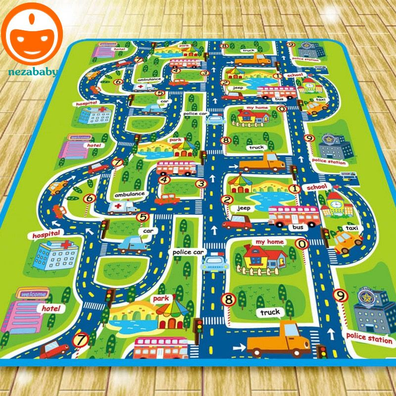 City Road Carpets For Children Rug Puzzle Play Mat Baby Carpet Kids Toys Rugs Developing Mats