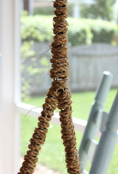 Rope Wrapped Chain For A Porch Swing Porch Furniture Outdoor Porch Porch Swing