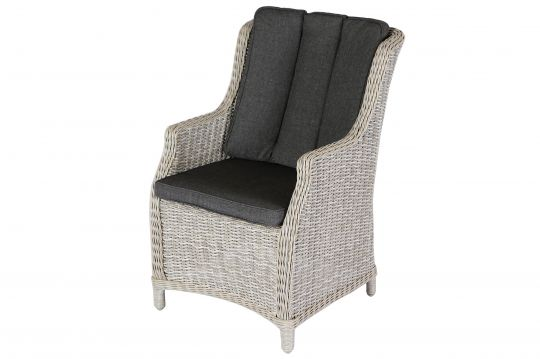 VILLANA Gartensessel, braun meliert, Polyrattan, inkl Sitzpolster - gartenmobel set polyrattan braun
