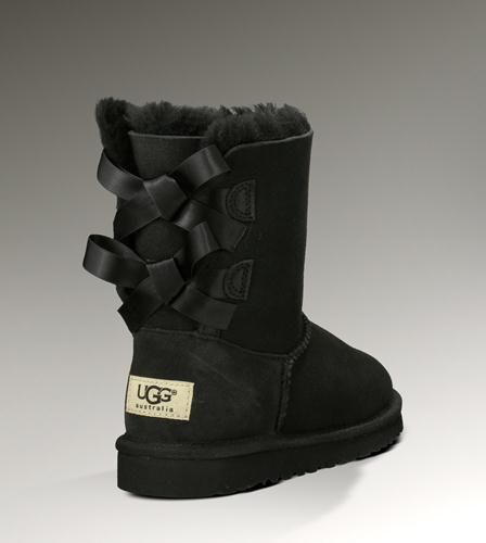 86ce69be557 Uggs Bow Bailey Short Black Boots | Snow Boots | Ugg boots cheap ...