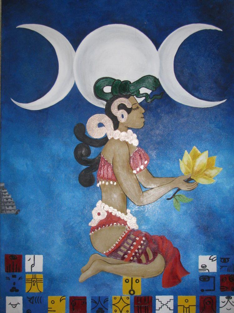 la diosa ixchel regresa a su templo  isla mujeres