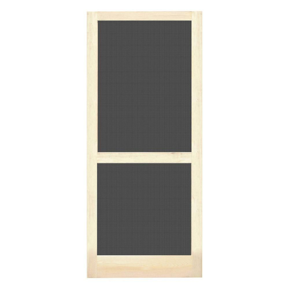 Screen Tight Petguard Series 36 In X 80 In Wood Century Screen Door Wcen36pg At The Home Depot Screen Tight Wood Screen Door Screen Door