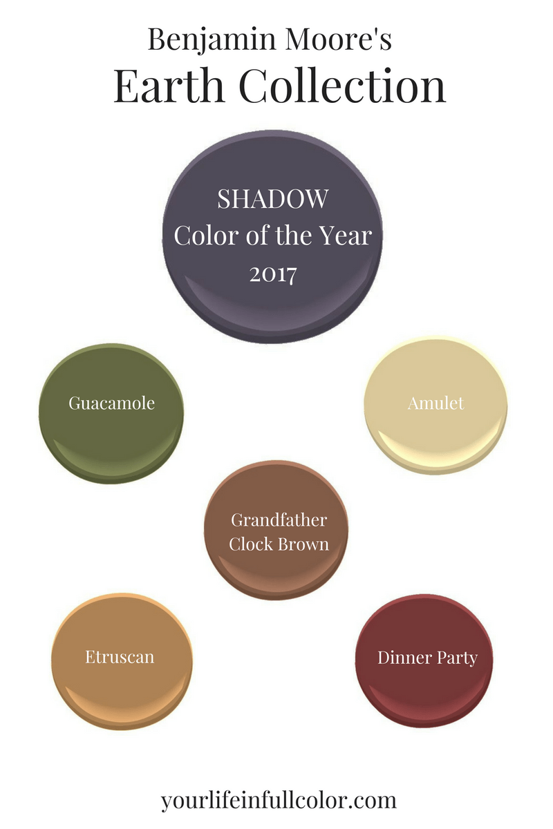 Benjamin Moores Color Of The Year 2017 Paint It Pinterest Grandfather Clock Diagram Shadow 2117 30 Spices Up An Earth Tone Palette Pronto Guacamole 2144 10 Amulet Af 365 Brown 2096 Etruscan 355