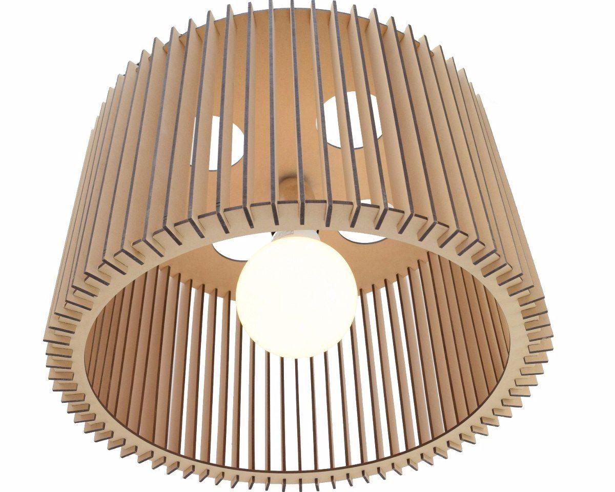 Lampara colgante de madera de dise o mdf env o gratis - Lamparas de madera ...