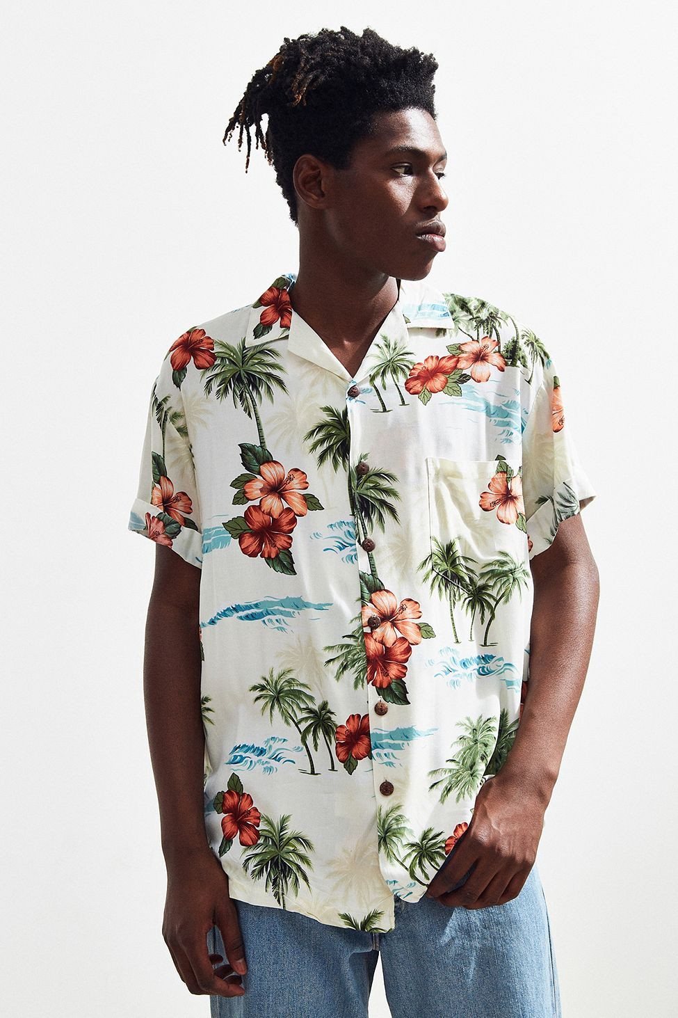 Urban Outfitters Vintage Light Ground Hawaiian Shirt - Assorted ...