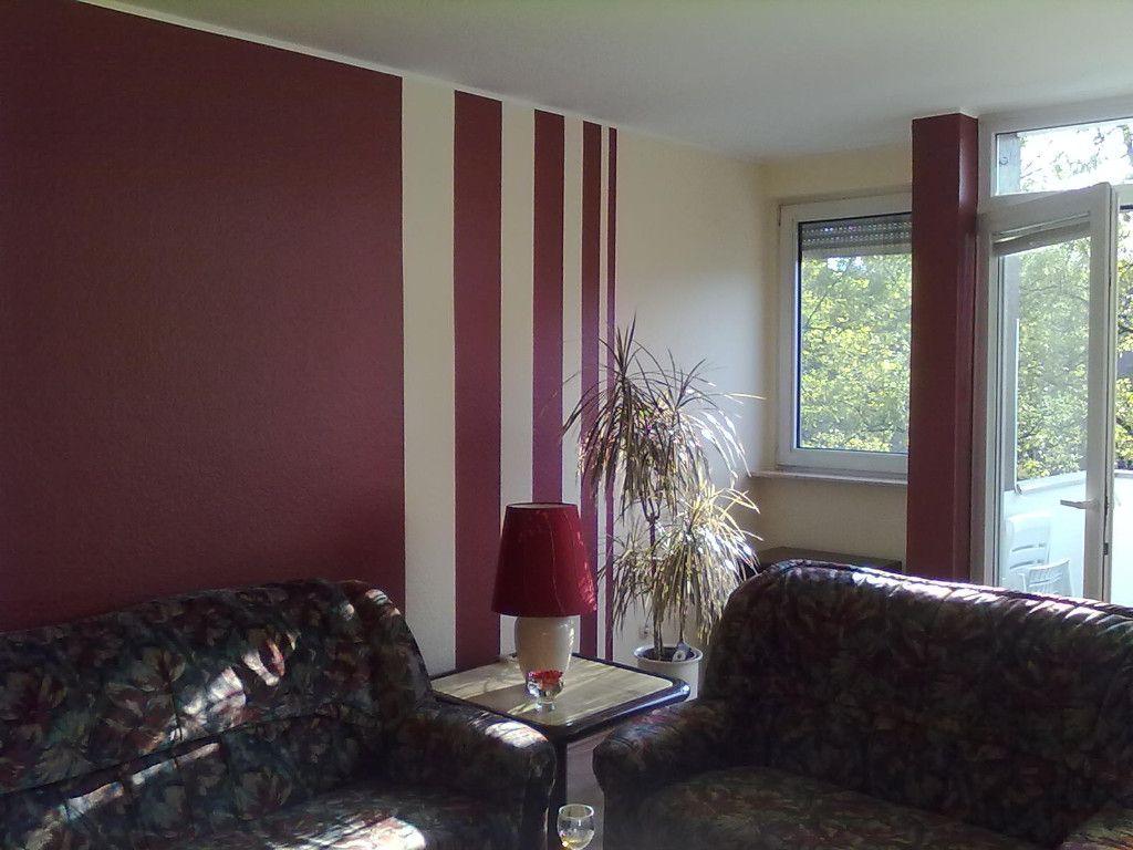 Wohnzimmer Streichen Muster Bilder