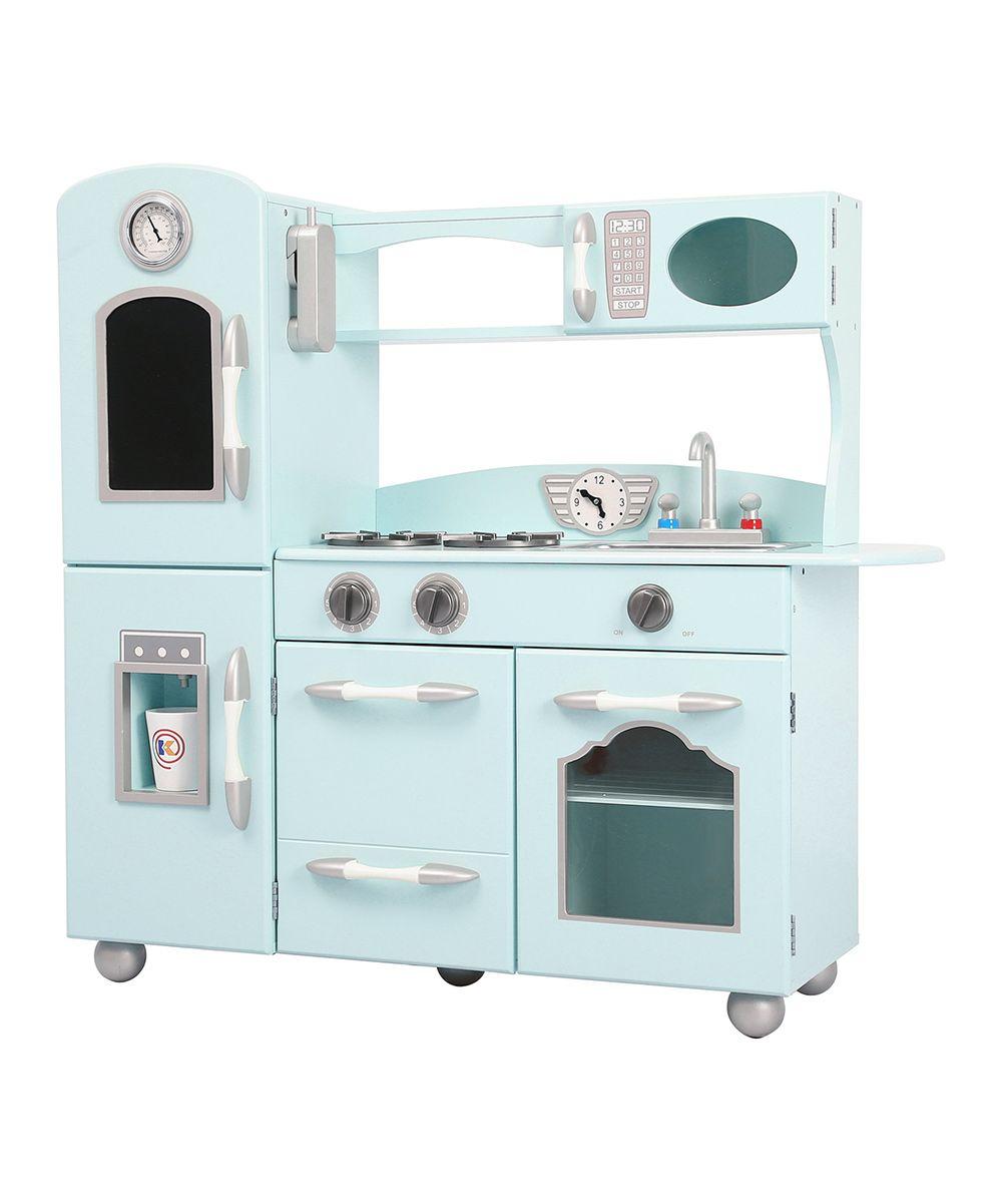 Retro Play Kitchen Set Mint Retro Play Kitchen Play Kitchen Sets Plays And Kitchen Sets