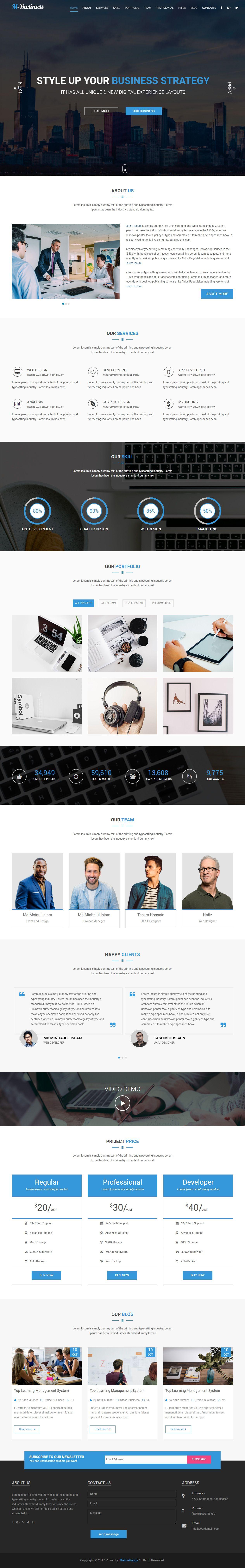 M-Business is Premium full Responsive Retina Parallax HTML5 Template ...