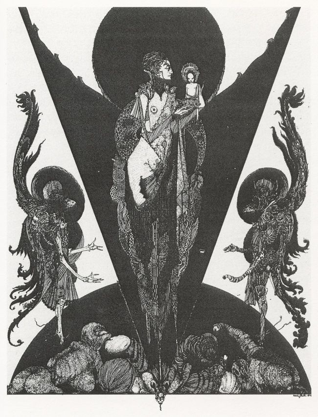 Harry Clarke - 1924, The Devil's Wife and her Eldest