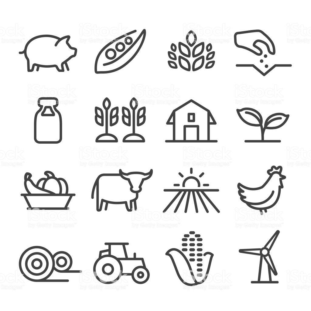Farming Agriculture Harvesting Planting Animal Icon Design Farm Vector Free Vector Art