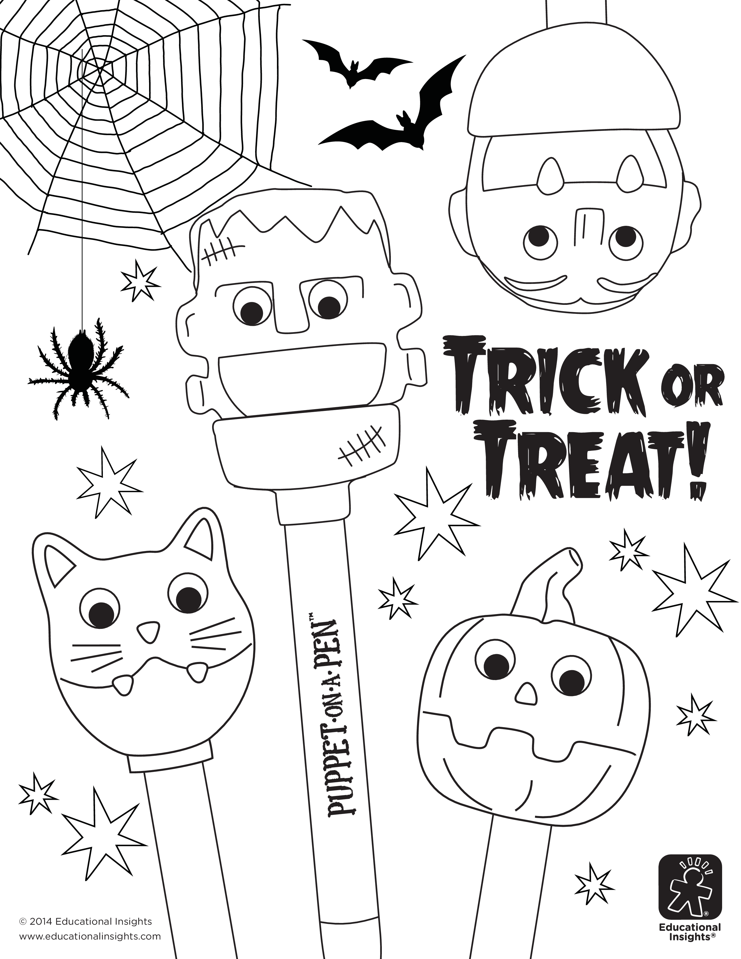 FREE DOWNLOADABLES: Fangtastic Halloween Coloring Pages | Halloween ...