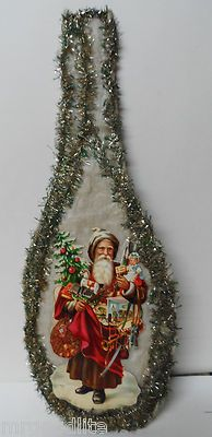 Huge Old 1800 S Victorian Diecut Cotton Tinsel Pennsylvania Christmas Ornament Christmas Ornaments Antique Christmas Ornaments Victorian Christmas Ornaments