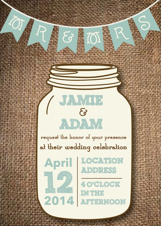 Free Jar Templates Mason Wedding Invitations Future