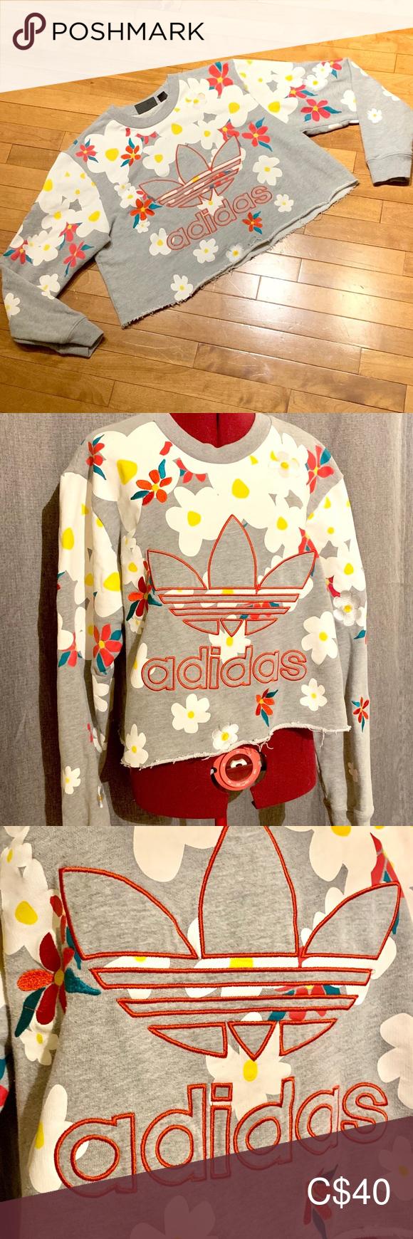 Adidas X Pharrell Williams Crop Pharrell Williams Pharrell Crop Sweatshirt [ 1740 x 580 Pixel ]