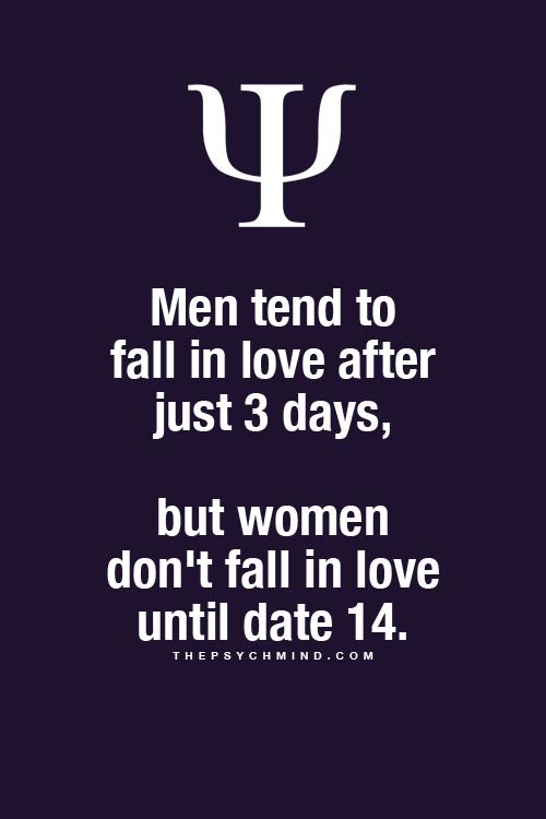 Psychology of men falling in love