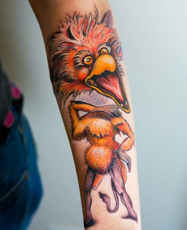 """Simple Labyrinth Movie Tattoo: Firey """"HER HEAD DON'T COME OFF"""
