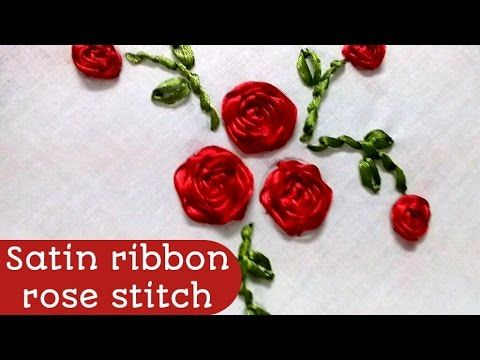 Hand Embroidery Designs Ribbon Embroidery By Hand Tutorial Ribbon