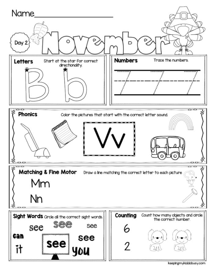 Free Morning Work For Kindergarten November Thanksgivng Worksheets Kinderga Morning Work Kindergarten Free Kindergarten Morning Work Kindergarten Freebies