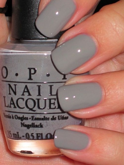 Classic | Nails | Nails, Gray nails, Opi nails