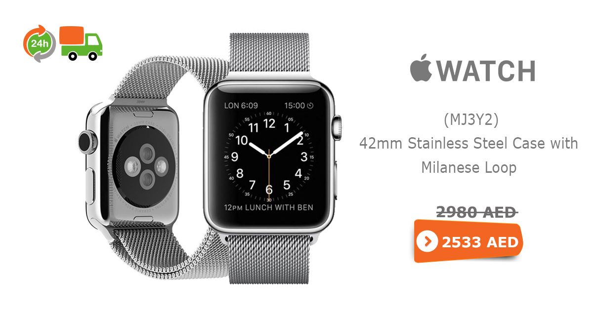 Latest online #offer price #apple #watch-mj3y2-42mm #stainless-steel