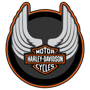 Harley Davidson Wings Round Logo Vector Decal Vector Logo Round Logo Harley Davidson