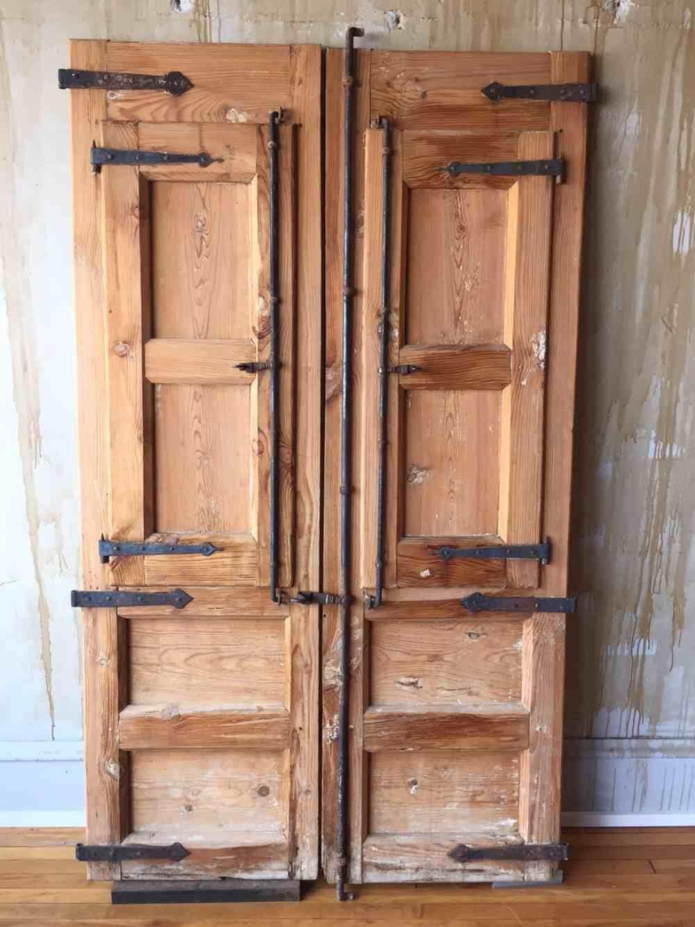 This is a very unique and rustic antique Spanish door set with wonderful  iron… - Spanish Antique Door Set (SOLD) MERCATO - Italian Antiques