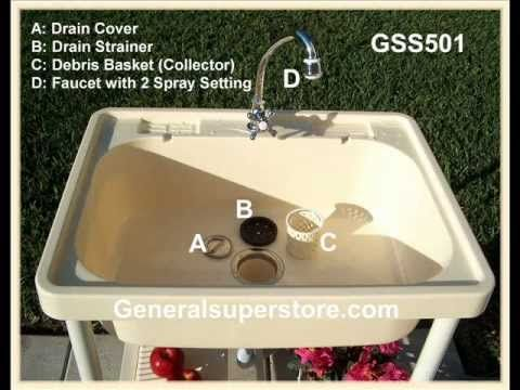 Outdoor Sink Basin Wash Tub Utility Sink Camping Sink Camp
