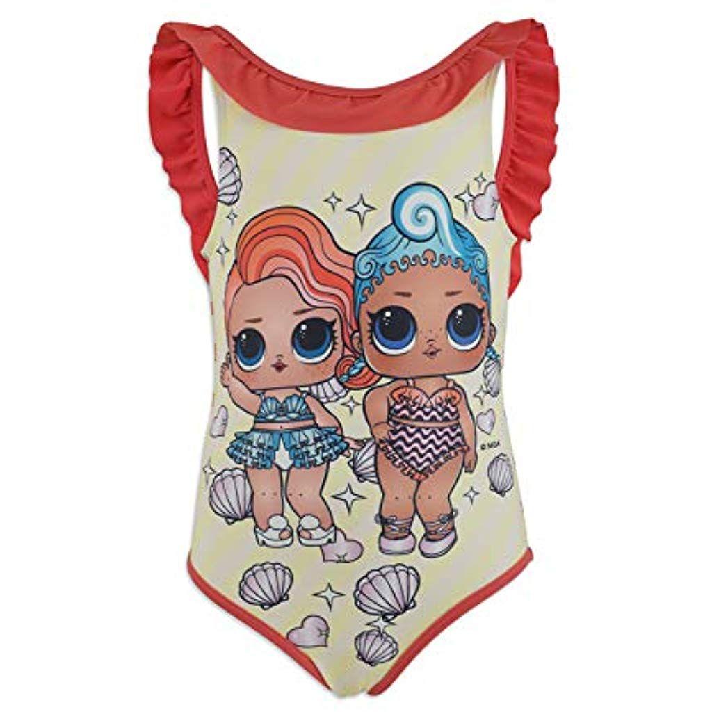 L.O.L Bambina Full Print novit/à Prodotto Originale con Licenza Ufficiale 18-XXX Costume Intero con Volant Mare Piscina Surprise!