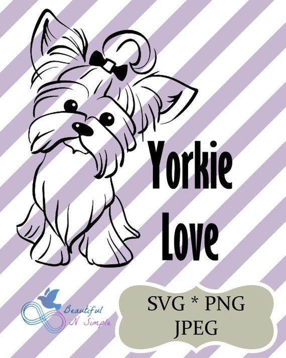 Yorkie Love, Yorkshire, Terrier, Dog, Puppy, Love, Svg, Png ...