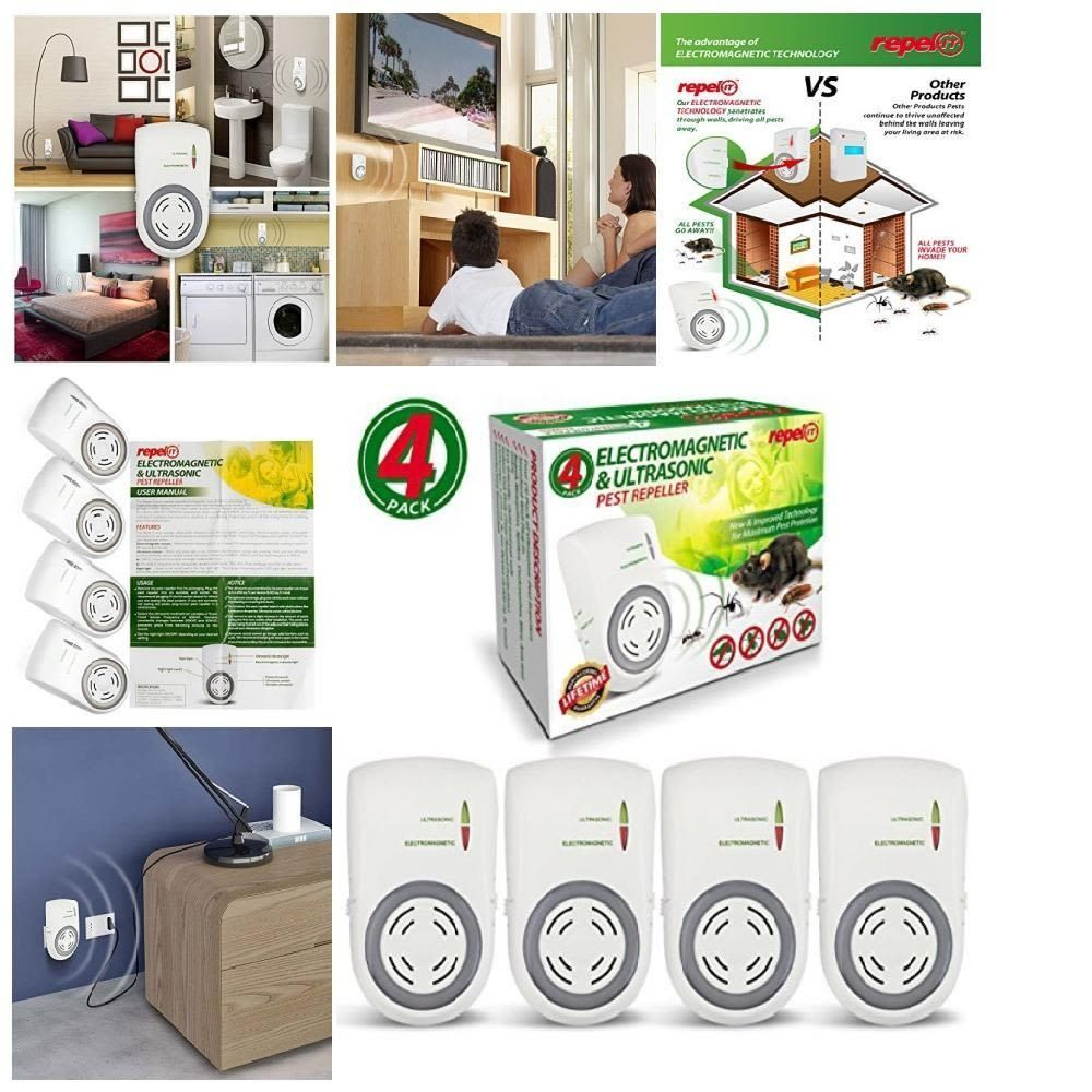 Details about 4PC Ultrasonic Pest Repeller Electronic